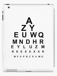 Eye Chart On Phone Snellen Chart Eye Chart 2 Ipad Case Skin By Tom Hill Designer