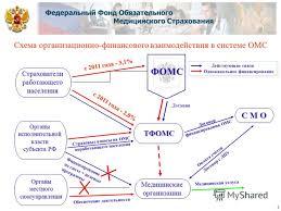 Презентация на тему ФИНАНСИРОВАНИЕ РОССИЙСКОГО ЗДРАВООХРАНЕНИЯ  3 Схема организационно финансового взаимодействия в системе ОМС
