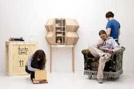 creative furniture ideas. creative storage furniture design of accordion cabinet by elisa sebastian ideas