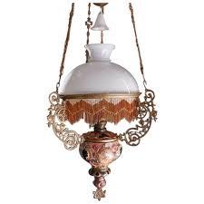 free antique majolica hanging oil lamp chandelier