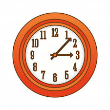 premium vector orange wall clock icon