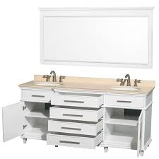 wyndham collection wcv171772dwhivunrm70 berkeley double vanity white 72 inch with ivory marble top with white undermount