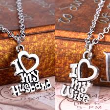 i love my wife husband heart letters alphabet pendant necklace for women men jewelry lover couple collier