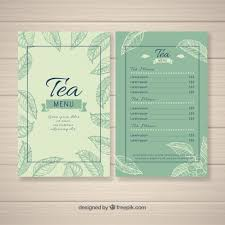 Tea Menu Template With Different Beverages Nohat