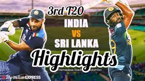 India vs Sri-lanka 3rd T20 Highlights ...