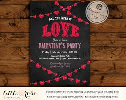 Valentines Party Invitation Valentines Day Card Mothers Day