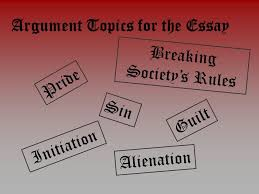 literary techniques in the scarlet letter ppt video online argument topics for the essay