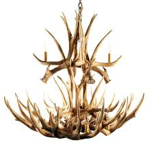 mule deer 16 cast antler chandelier