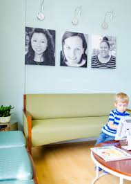 >modern dental office waiting room bright smiles gallery wall in a dental office waiting room love that they used actual patient pictures