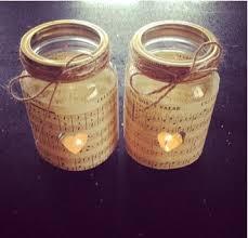 Decorating Jam Jars For Candles Tea Light Holders X 100 Jam Jar Candle Holders Vintage Music Paper 16