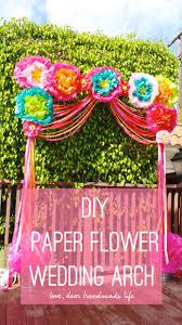 Paper Flower Archway Diy Paper Flower Wedding Arch Dear Handmade Life