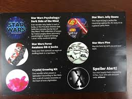 supply pod subscription box review coupon star  supply pod star wars 2015 card back