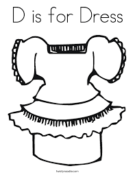 Small Picture D is for Dress Coloring Page Twisty Noodle