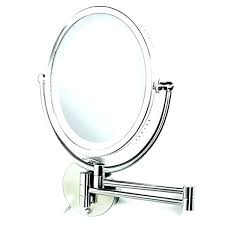 lighted vanity mirror wall mount magnifying mirror with light wall mount folding lighted makeup mirror wall