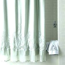 linen ruffle shower curtain bottom burlap gray pottery barn