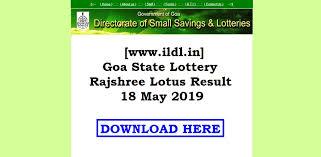 Rajshree Result Chart Www Ildl In Goa State Lottery Rajshree Lotus Result 18 May 2019