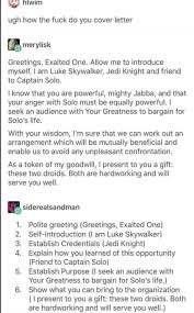 cover letter dos and don ts luke skywalker on how to write a cover letter boing boing