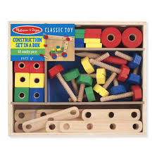 melissa doug wooden construction building set in a box 48 pcs pupsik singapore