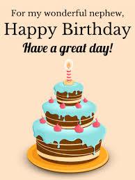 Sparkle Happy Birthday Cake for Nephew