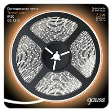 «<b>Светодиодная лента Gauss Lenta</b> 311000107 7.2Вт Теплый ...