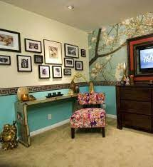 wallpaper-border-bedroom-chair-rail ...