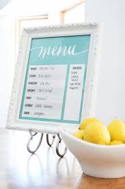 Framed Dry Erase Board Free Printable Dry Erase Menu Board Menu Boards Weekly Meal