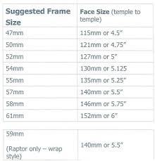 16 Ray Ban Wayfarer Size Chart Ray Ban Size Chart Www