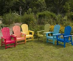 Charming Painting Wooden Outdoor Furniture Painted Garden Furniture
