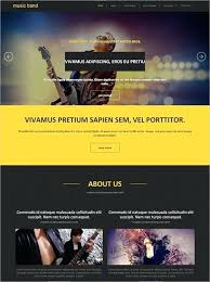 Music Band Website Template Sharing For Resume With Photo Free ...