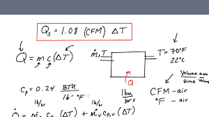 sensible heat formula for hvac engineers where does q 1 08 cfm Δt come from