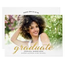 Graduation Announcements For High School High School Graduation Invitations Zazzle