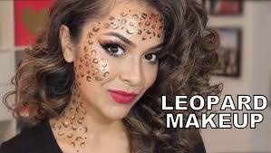 easy last minute look leopard makeup trinaduhra