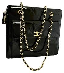 Chanel 2.55 Reissue Vintage Shoulder Quilted Chain Black Patent ... & Chanel 2.55 Reissue Vintage Shoulder Quilted Chain Black Patent Leather  Tote - Tradesy Adamdwight.com