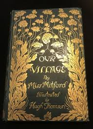 our village by miss mitford antiquarian book 1893 stunning art nouveau arts and crafts cover