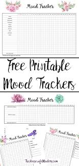 Free Printable Mood Tracker 4 Different Mood Tracker Charts