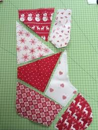 Quilted Christmas Stocking Pattern Gorgeous Homemade Quilted Christmas Stocking By SewDangCreative On Etsy
