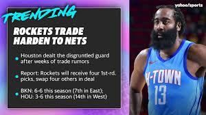 Rockets trade James Harden to Nets