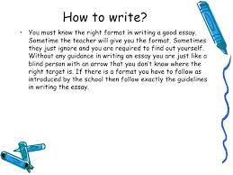 lecture what is good essay writing how to write