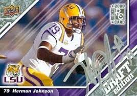Herman Johnson autographed Football Card (LSU) 2009 Upper Deck Draft #42  Rookie - Autographed College Cards at Amazon's Sports Collectibles Store