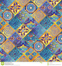 Mosaic Design Morocco Mosaic Design Abstract Background Stock