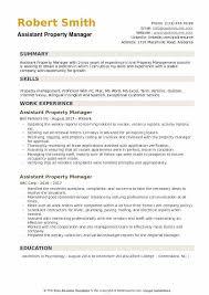 Property Manager Job Description Samples Management Property Resume Property Manager Resume Examples