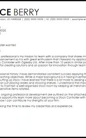 Controller Cover Letter Formatted Templates Example