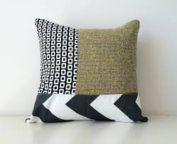 mod geometric pattern block pillow cover modern patchwork x