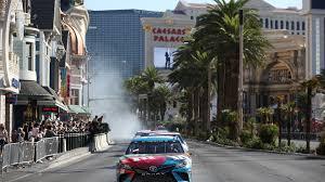 NASCAR drivers did burnouts on Las Vegas Strip before playoffs start
