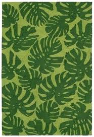 palm leaf rug leaf pattern
