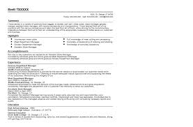 Grocery Department Manager Resume Sample | Quintessential Livecareer with  regard to Grocery Store Manager Resume
