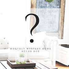 Home Decor Subscription Box Monthly Mystery Home Decor Box Subscription Gable Lane 45
