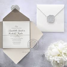 cheap wedding invitations lowest price in uk, top quality Wedding Invitations Fast And Cheap embossed inner card border wrapped with twine enclosed in wax stamped matte ivory outer pocket quick view Printable Wedding Invitations