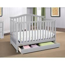 All In One Crib Graco Solano 4 In 1 Convertible Crib With Drawer Pebble Gray