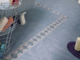 blue linoleum bathroom floor